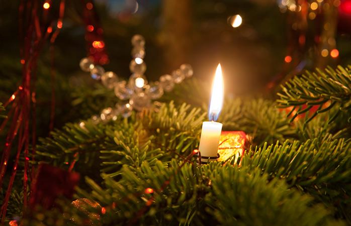 Ein feuriges Weihnachtsfest in Deutschland.