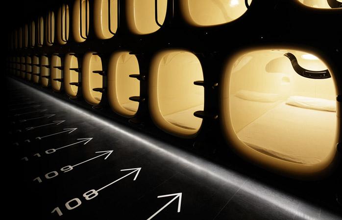 ninehours pods am internationalen Flughafen Tokio-Narita