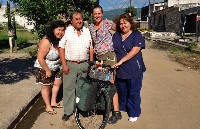 Familie Gonzalez in San Miguel de Tucumán, Argentinien – nur einige der vielen großzügigen Menschen, denen Sissi unterwegs begegnet ist