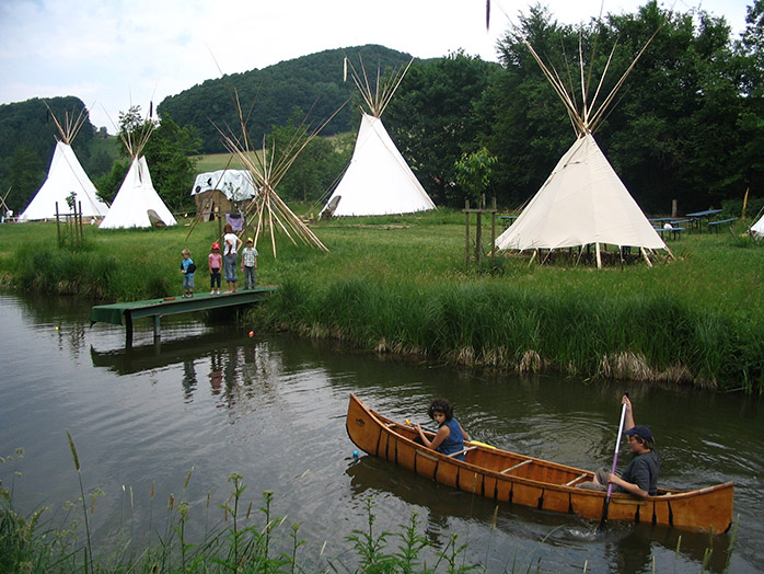 Wild Camping mal anders im Tipi