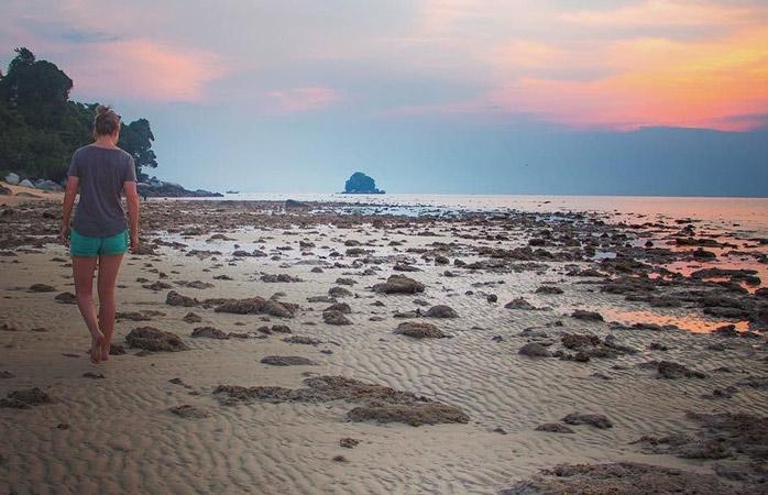 Die Insel Tioman ist der perfekte Ort für geruhsame Spaziergänge